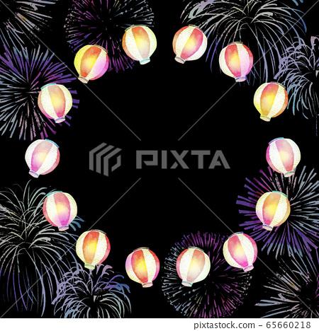 등불 축제 여름 축제 수채화 일러스트 65660218