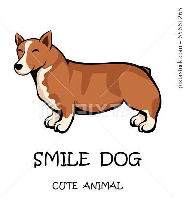 Vector illustration cartoon on a white background of a cute corgi dog 65661265