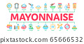Mayonnaise Spice Sauce Minimal Infographic Banner Vector 65666532