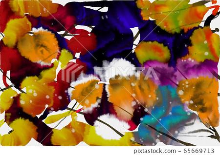 抽像美東方日本中國墨水彩墨,不規則墨點 65669713
