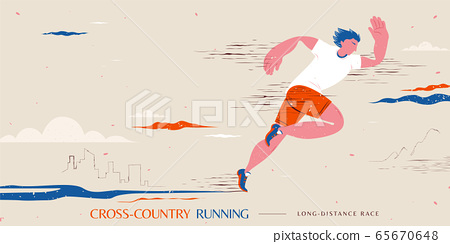 Cross-country running event 65670648