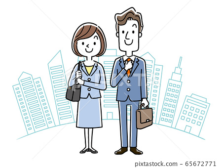 Stock illustration: new employee, recruit, young men and women 65672771