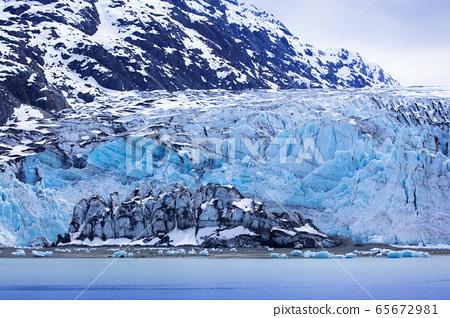 美國阿拉斯加,冰川,氷河、アラスカ、米国,Glacier, Alaska, USA 65672981