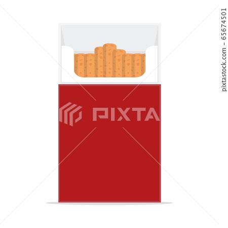 Open cigarettes pack box vector 65674501