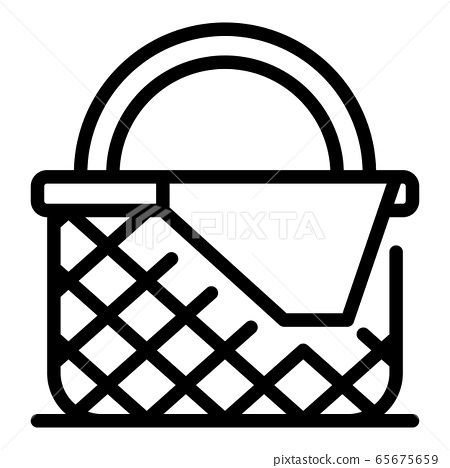 Vegetables wicker icon, outline style 65675659