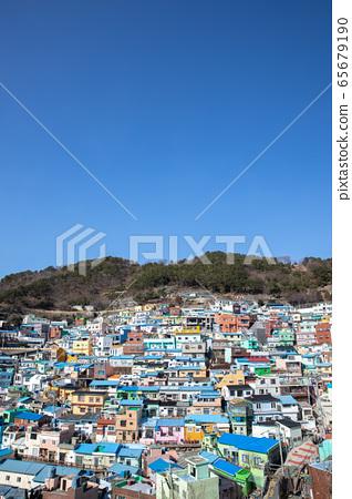 부산 감천 (카무쵼) 문화 마을 한국 (세로) 65679190