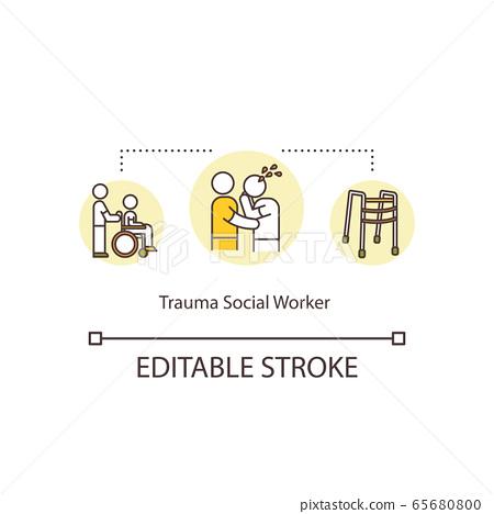 Trauma social worker concept icon 65680800