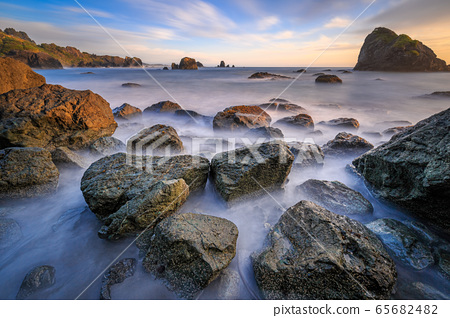 Sunset at a Rocky Beach, Northern California Coast 65682482