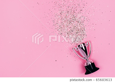 Winners cup with festive sparkles 65683613