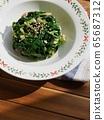 韓國料理菠菜,小菜 65687312