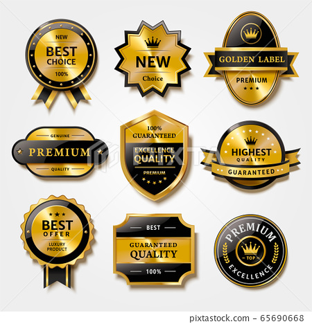 Label set for premium products 65690668
