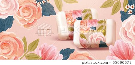 Organic cosmetic banner template 65690675