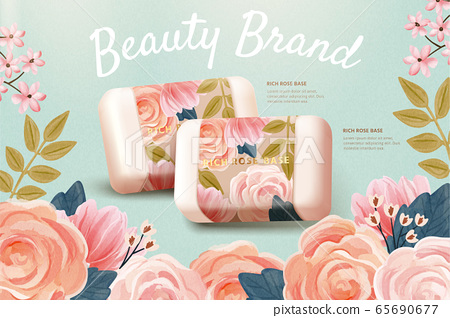Ad template for cosmetic product 65690677