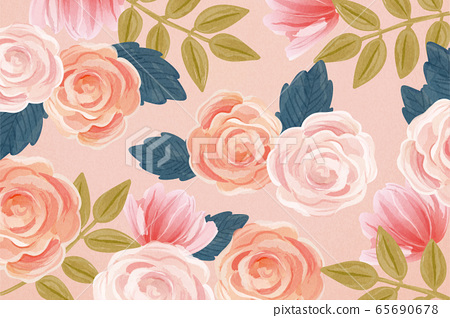 Trendy seamless floral background 65690678