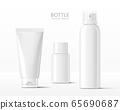 Realistic cosmetic bottle mock-ups 65690687