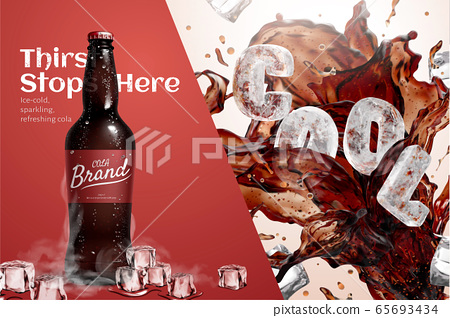 Ad template for fresh iced cola 65693434