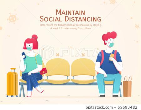 Practice social distancing 65693482