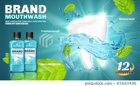 Mouthwash ad template 65693496