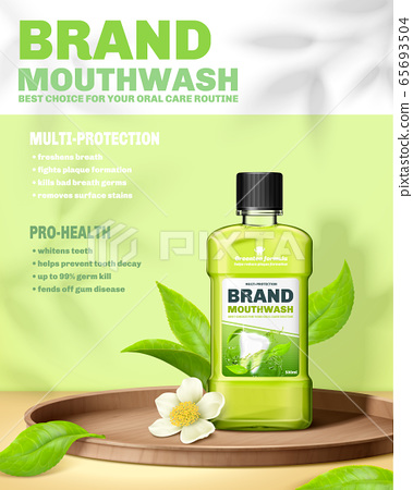 Mouthwash ad template 65693504