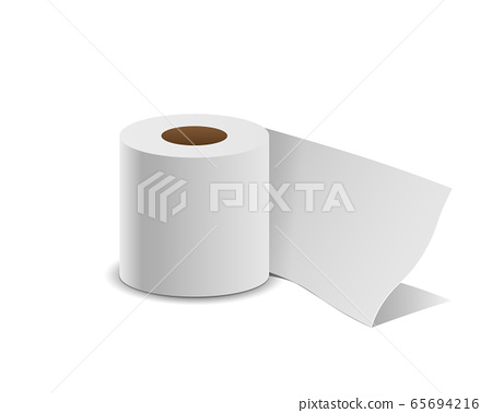 Tissue paper roll, isolated on white 65694216