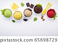Various of ice cream flavor ball blueberry ,lime 65698729