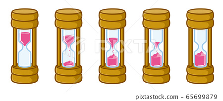 沙漏圖標(粉紅色) 65699879