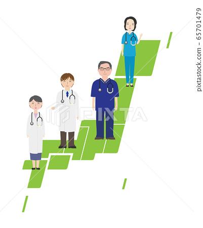 일본 전국의 의사들 (녹색) 65701479