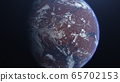 3D rendering of the process of terraforming Mars as a result of humanity colonization of the red planet 65702153