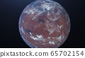 3D rendering of the process of terraforming Mars as a result of humanity colonization of the red planet 65702154