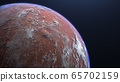 3D rendering of the process of terraforming Mars as a result of humanity colonization of the red planet 65702159