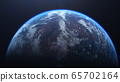 3D rendering of the process of terraforming Mars as a result of humanity colonization of the red planet 65702164