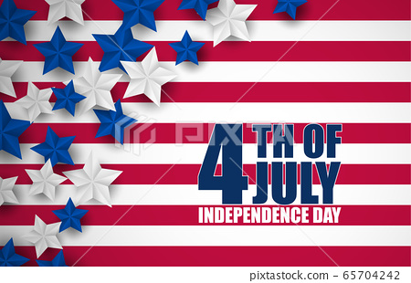 4th of July banner or poster in United States of 65704242