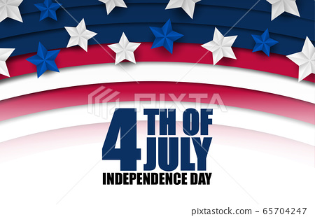 4th of July banner or poster in United States of 65704247