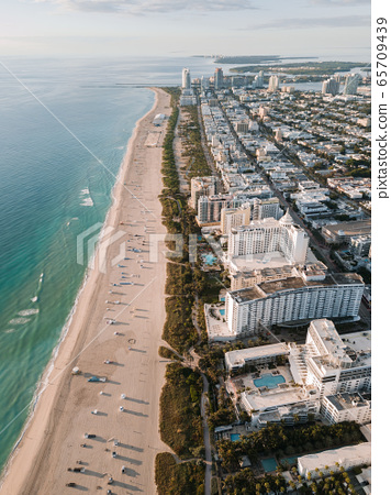 Aerial view of Miami Beach, Florida, USA 65709439
