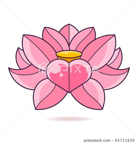 Lotus Flower Logo Abstract Beauty Spa Salon 65711839
