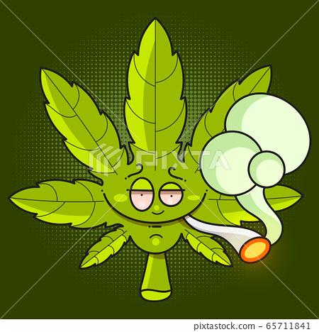Cannabis leaf icon - Vector Green Cannabis Leaf 65711841