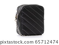 small square handbag in black on a white background 65712474