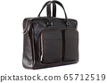 leather men's briefcase on a white background 65712519