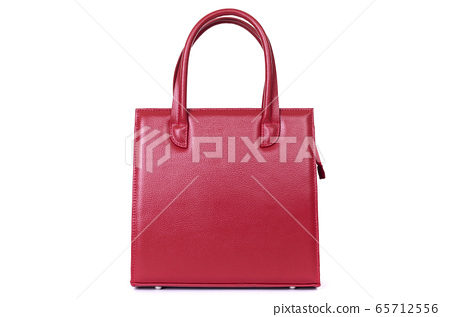 women red leather bag isolated on white background 65712556