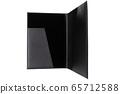 elegant open folder for documents on a white background 65712588