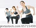 健身健美操舞蹈健身房女人練習 65715499