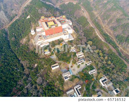 Aerial view of The Putuo Zongcheng Buddhist Temple, Chengde, China 65716532