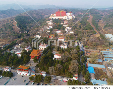 Aerial view of The Putuo Zongcheng Buddhist Temple, Chengde, China 65716593