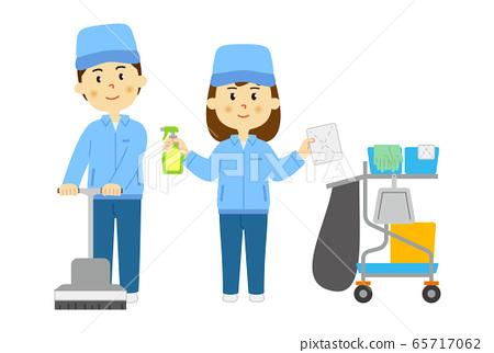 清潔男人和女人的人 65717062