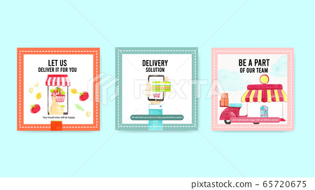 Delivery ads design with 65720675