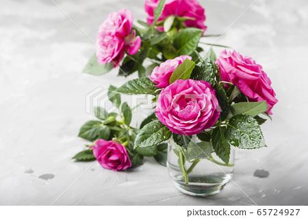 Amazing wild pink roses 65724927