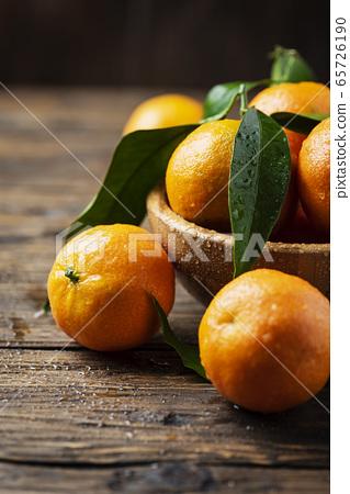 Fresh sweet mandarins 65726190