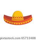 sombrero isolated on white background, vector 65733488