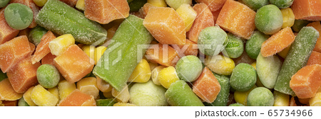 closeup background and texture of frozen vegetable 65734966