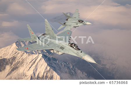 Military fighter aircraft Mig 29. 65736868